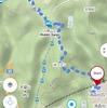 地図アプリ「Windy Maps」は登山道のルート検索もできる。