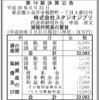 株式会社スタジオジブリ 第16期決算公告