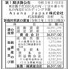 Asana Japan株式会社 第1期決算公告