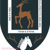 鹿の紋章を、中国の故事から作ってみた
