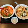 🚩外食日記(703)    宮崎ランチ   「中華料理 華盛(はなもり)」②より、【ラーメンセット(ランチ限定)】‼️