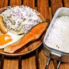 メスティン 鮭ソテー定食
