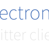 twitter client for electronを写経してみた
