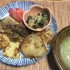 たけのこと採れたて椎茸の天ぷら