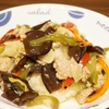 塩麹で味付けした中華丼は豚ひき肉と残り野菜で(´・ω・`)