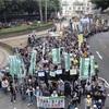 香港で民主派勢力がデモ…9150人が参加