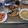 幸運な病のレシピ( 562 )朝:米糠イワシ、牛丼アタマの卵とじ、鳥カツの余り
