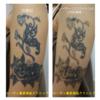 青・黒2色腕のタトゥー