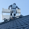 北側屋根の塗装 上塗り
