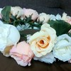 カラードレス用の花冠を手作りしました!