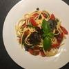 作り置きにも!簡単「ミニトマトのフレッシュパスタソース」と紫バジルのスパゲッティ。作り方・レシピ。