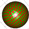 球面の三角形二色塗り