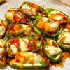 【レシピ】豚こまで簡単♬肉詰めピーマンのケチャップ醤油♬
