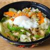 今日の食べ物 すた丼屋の甘辛肉野菜丼