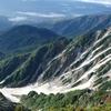 白馬岳~②風景掲示盤の前から剱岳・槍ヶ岳・富士山が見えた