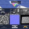 「NORMALMAP ONLINE」ノーマルマップをノイズ画像から作る