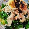 【1食149円】糖質0カロリーオフ麺de冷やし中華のロカボレシピ~茹でずに簡単!サラダチキン+パクチーどっさり~