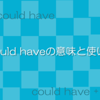 Could haveの意味と使い方