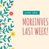 先週のモアインベスト!!moreinvest!!!について語るんです。