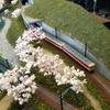 鉄道模型のジオラマ展示 本日(9/3)PM3:00迄