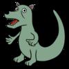 犬のような恐竜 のイラスト