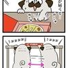 【犬漫画】ピザの盗み食いに必死すぎる
