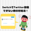 【Nintendo Switch】エラーコードが出てSNS投稿できない時の対処法【2801-7000】