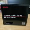 SIGMA 17-50mm F2.8 EX DC OS HSMを購入しました。