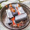 火おこし器を使わずに簡単にオガ炭に火をつける方法