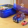 車が好きな男性へぴったりのバレンタインチョコレート フィアットのミニカー付きチョコ