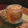 築地の「ターレットコーヒー」でアイスモカ。