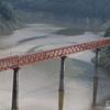 秘境駅の奥大井湖上駅と奥大井レンボーブリッジの絶景