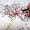日本画におけるスケッチの方法。 ~線描に色を付ける~