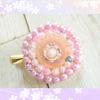 レジンとパールでお花型ブローチを作ってみた♪