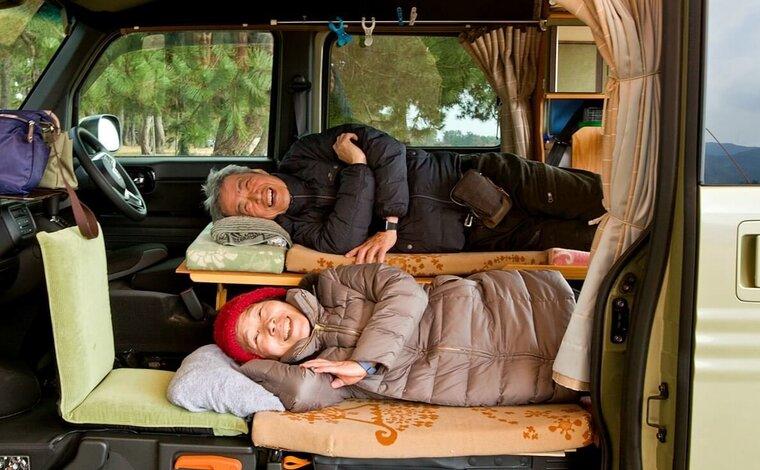 アクティブシニアの車中泊! N-VANカスタムで楽しむ夫婦旅