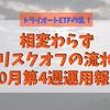 トライオートETFのマイナスが10万円を超える下落【10月第4週運用報告】