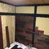 和室を洋室へ(砂壁の上からOSB合板と野地板でアクセント壁を作る)