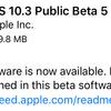 iOS10.3 Public Beta5が利用可能に