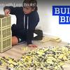 レゴで等身大のビッグベンを作る早送り映像です