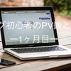 【ブログ初心者の結果報告】1ヶ月間ブログを運営してみてのPV数と収益