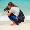 海辺の撮影