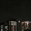 五反田から見る月