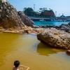 船とレンタサイクルで行く式根島【3終】大浦海水浴場、地鉈温泉、松が下雅湯、野伏港
