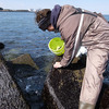 テトラに乗り、『テトラ海苔』を摘んで、海苔塩ラーメンを食べた