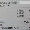 買い物日記 8/28 食費 228円 日用品 3,650円 国民健康保険 35,900円