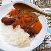昼食:鰹の角煮をつかってカレーライス