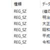 Windowsの元号情報のレジストリ