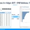 Business b-ridge のアプリデータをTableauで可視化