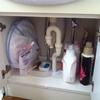 洗面台の下、ストックは基本なしですっきりと