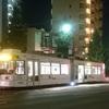 21日夜  熊本市電が脱線